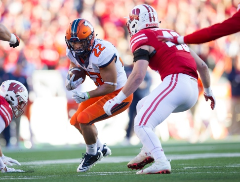 NCAA Football: Illinois at Wisconsin