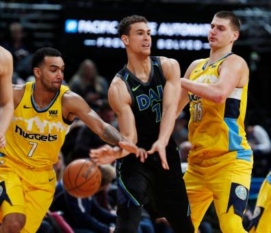 Trey Lyles, Nikola Jokic, Dwight Powell
