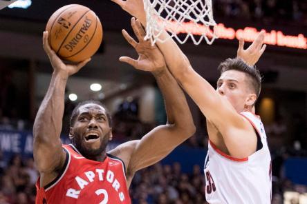 Raptors Trail Blazers Basketball